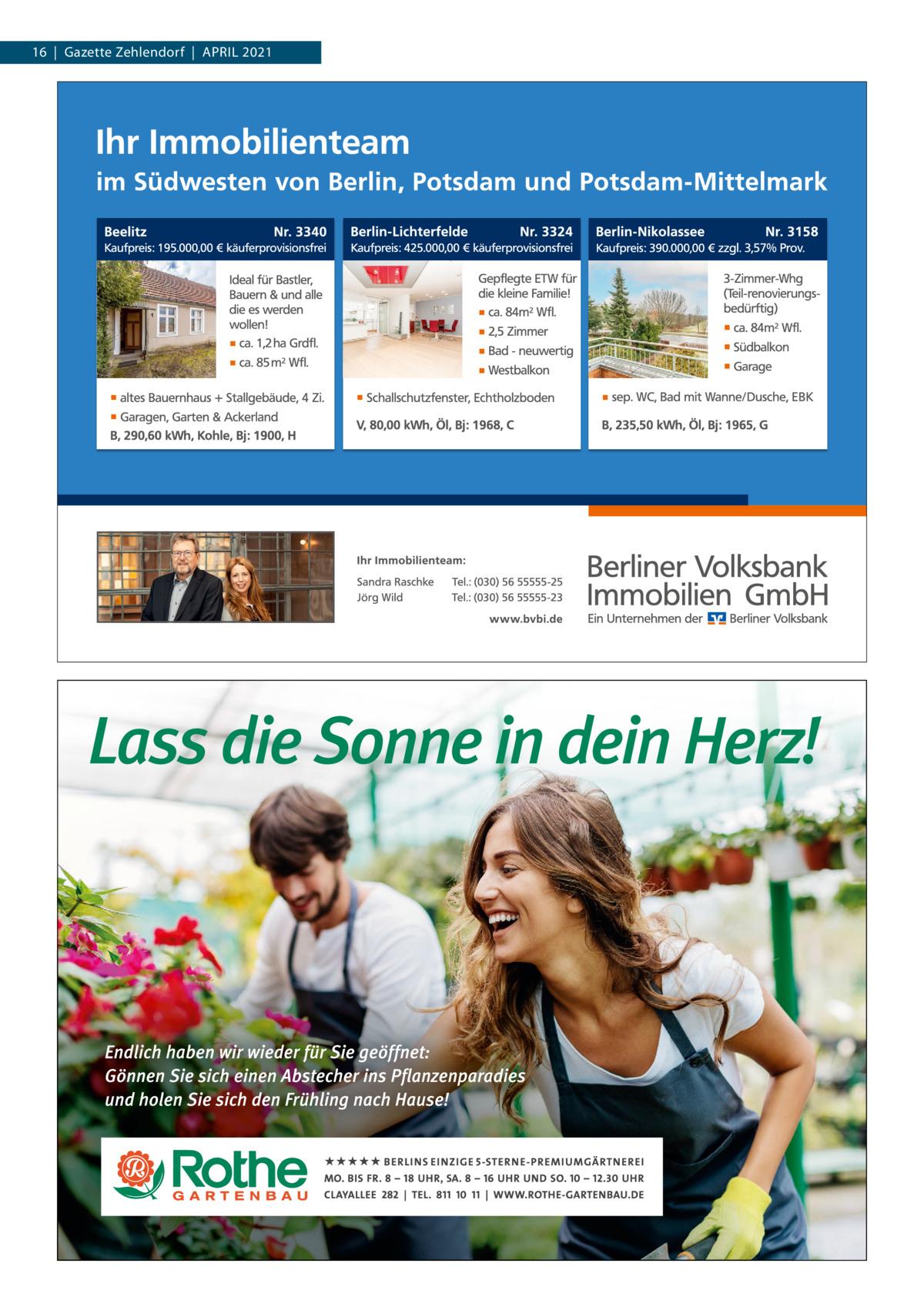 16|Gazette Zehlendorf|APRIL 2021