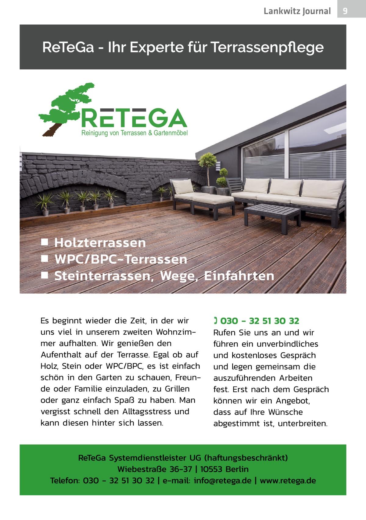 Lankwitz Journal  Reinigung von Terrassen & Gartenmöbel  9