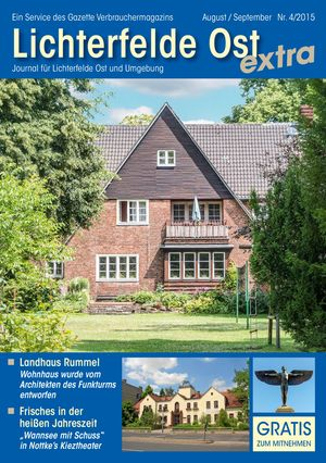 Titelbild Lichterfelde Ost Journal 4/2015