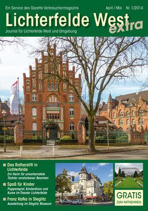 Titelbild Lichterfelde West Journal 1/2014