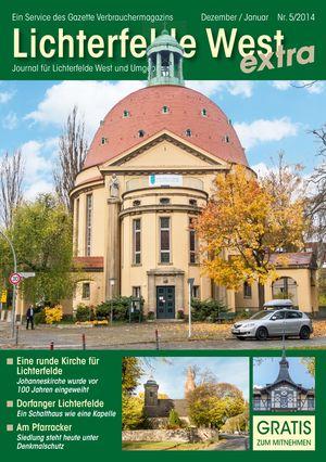 Titelbild Lichterfelde West Journal 5/2014