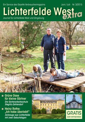 Titelbild Lichterfelde West Journal 3/2015