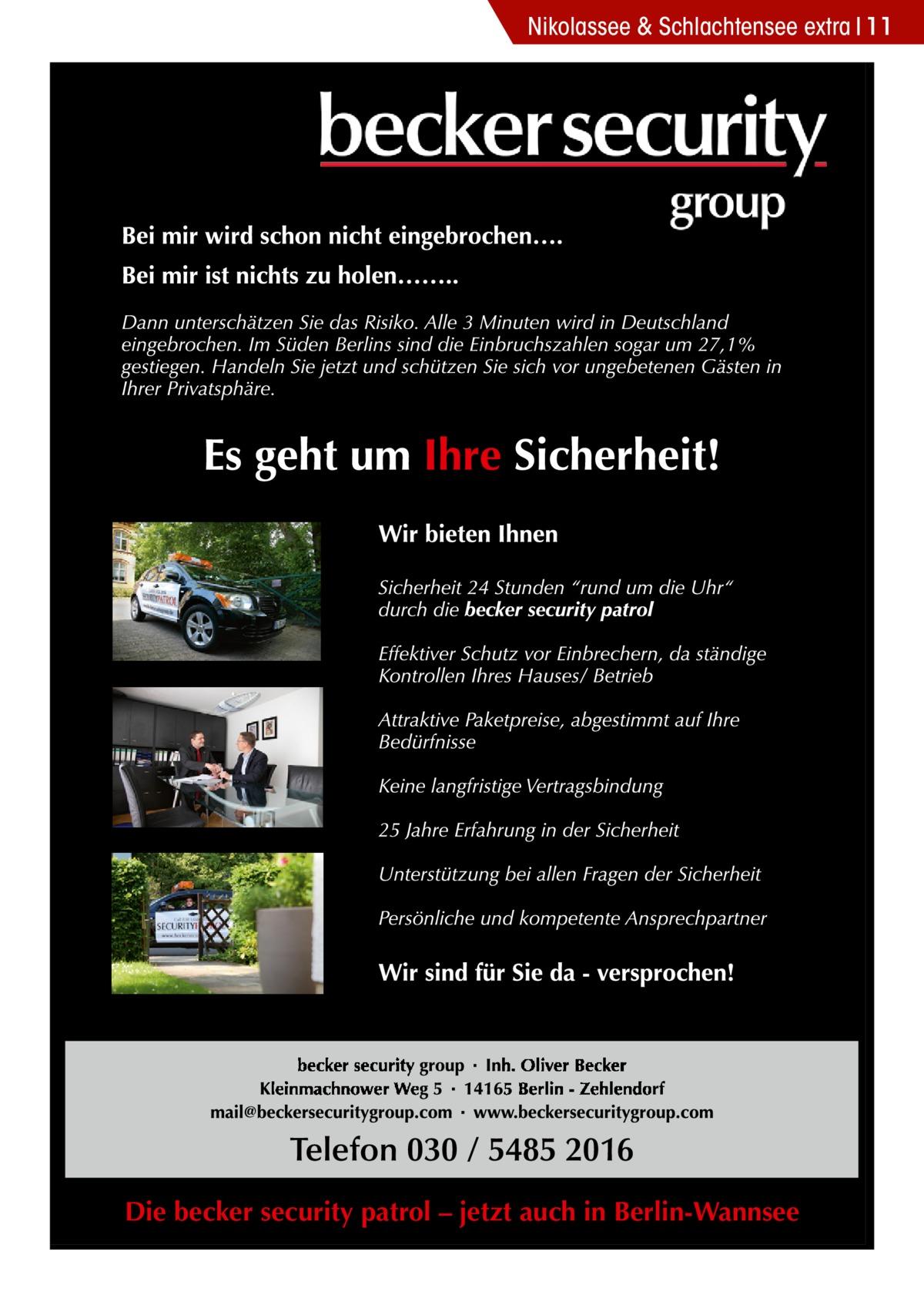 Nikolassee & Schlachtensee extra 11  Die becker security patrol – jetzt auch in Berlin-Wannsee