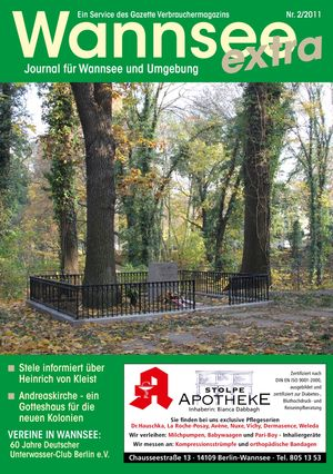 Titelbild Wannsee Journal 2/2011