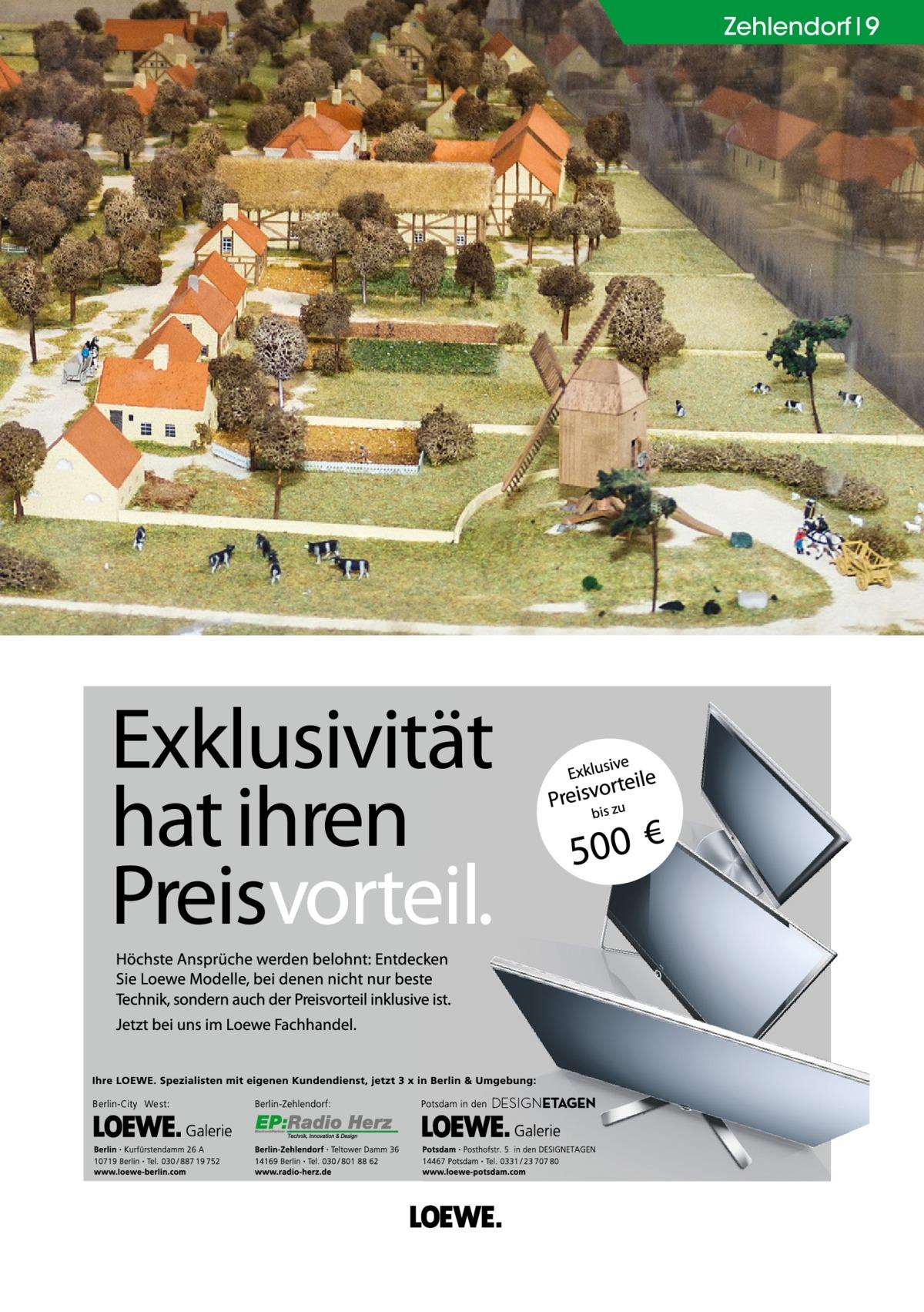 Zehlendorf 9  Der Dorfanger als Modell im Heimatmuseum.