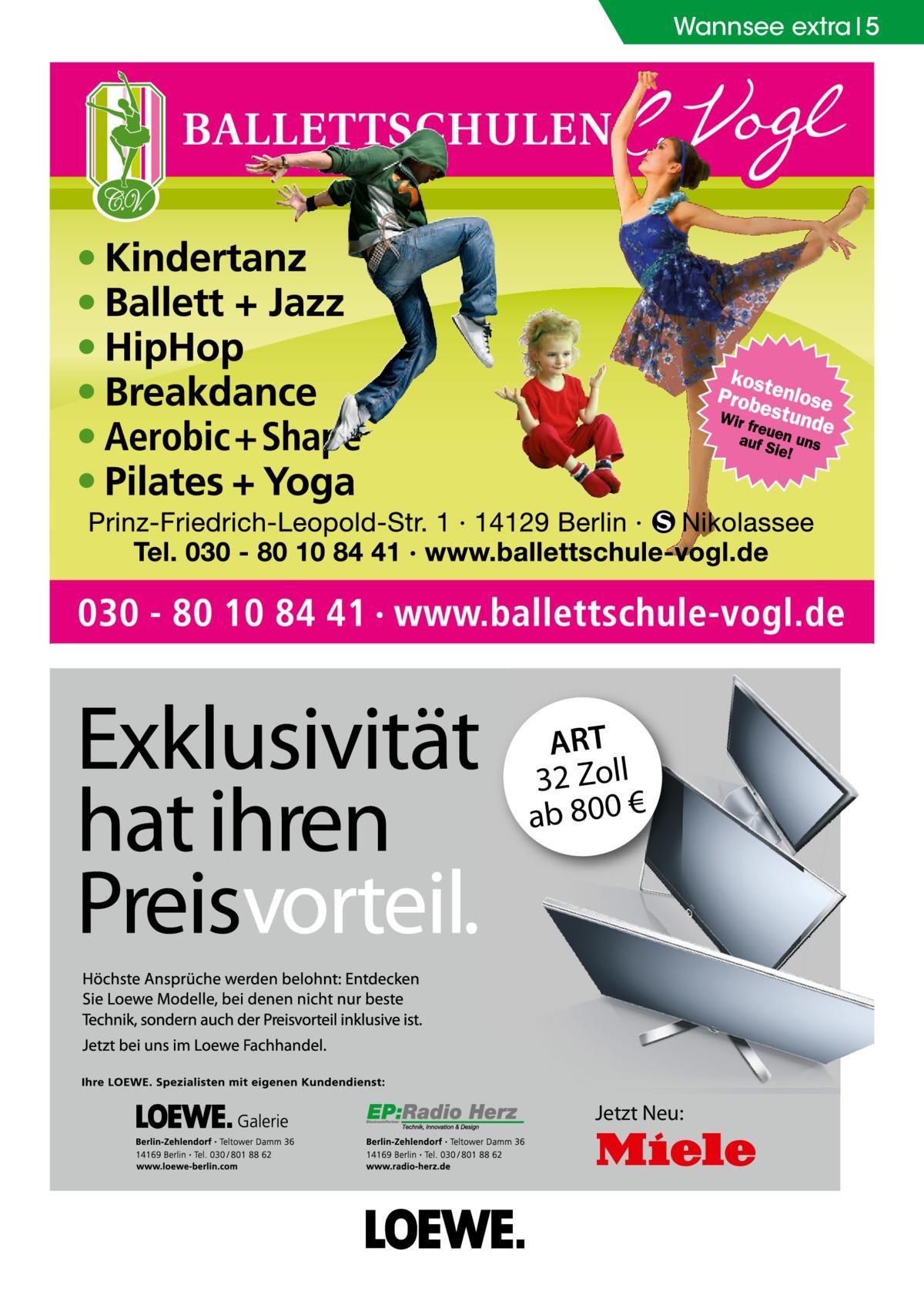 Wannsee extra 5  ART 32 Zoll ab 800 €  Jetzt Neu: