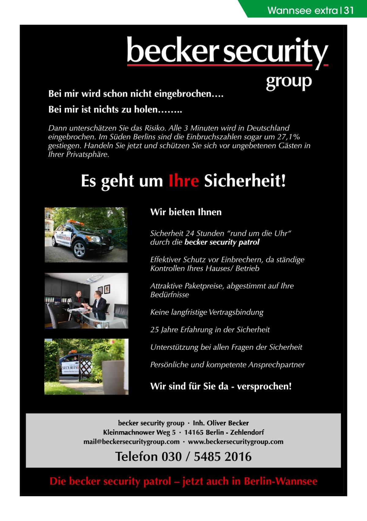 Wannsee extra 31  Die becker security patrol – jetzt auch in Berlin-Wannsee